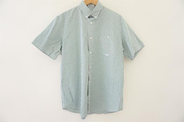 パパス ボタンダウンストライプ半袖シャツ