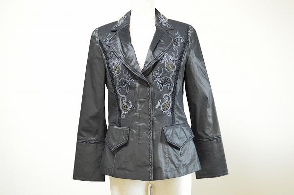 インポートロッサ 刺繍メッシュ異素材ジャケット