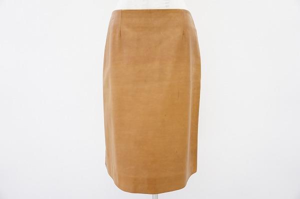 セリーヌ ラムレザースカート