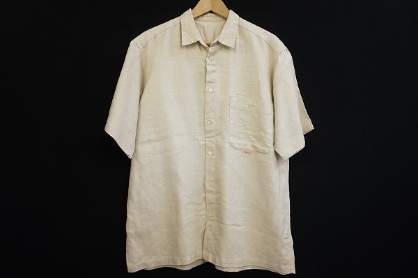 パパス 麻半袖シャツ