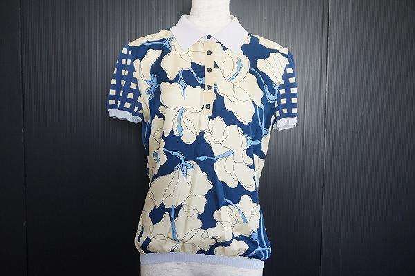 モスキーノ 半袖シルク混ポロシャツ