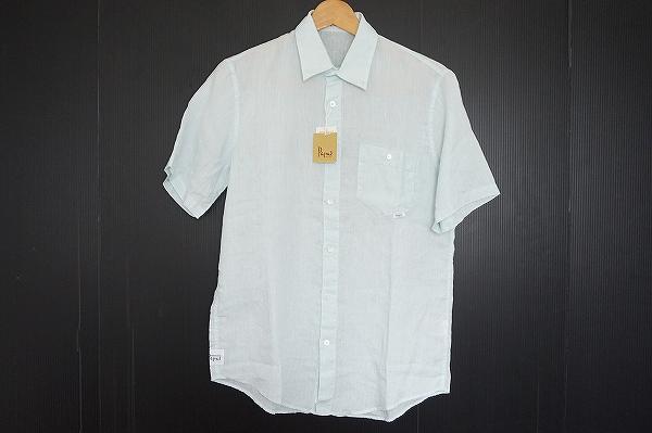 パパス リネン半袖シャツ