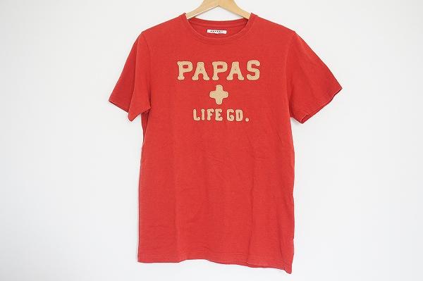 パパス 半袖ロゴTシャツ