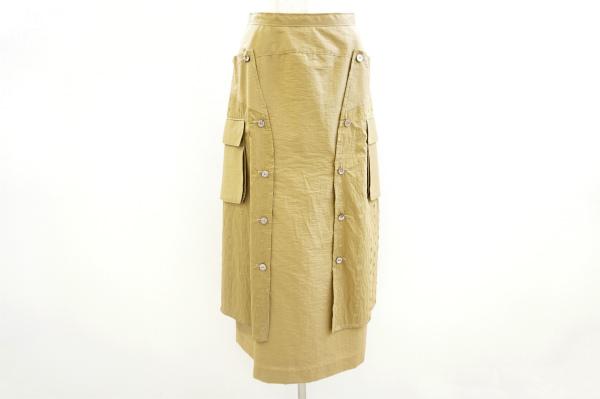 ティービーセンソユニコ マキシ丈刺繍ドット柄スカート
