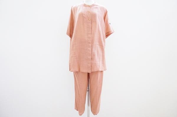 イタリヤ 麻混半袖シャツパンツセットアップ