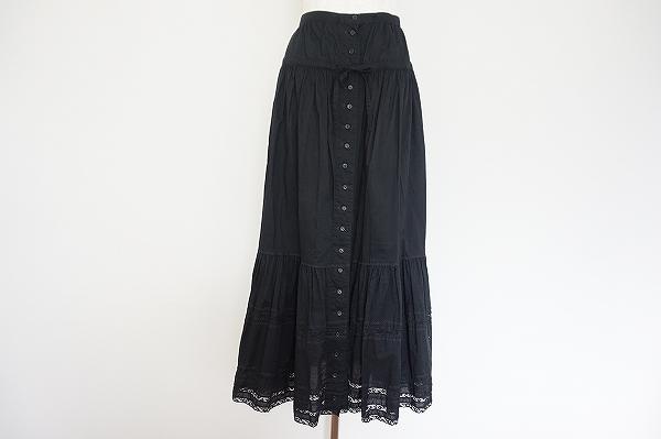 ピンクハウス シルク混ロングスカート