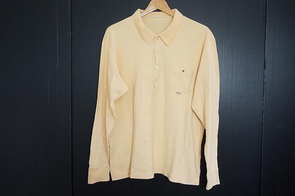 パパス コットン長袖ポロシャツ