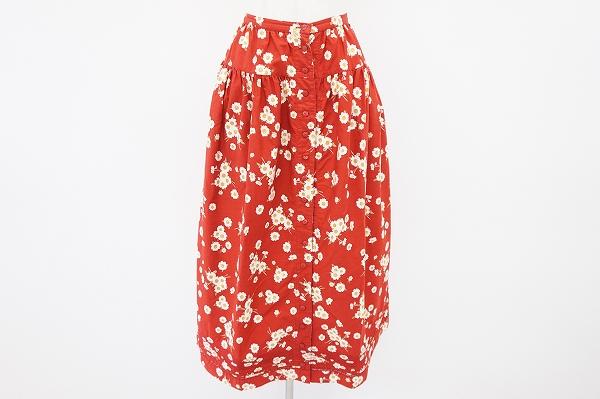 ピンクハウス フレア花柄スカート