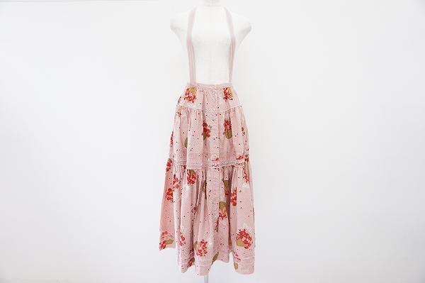 ピンクハウス バラかごレースフレアジャンパースカート