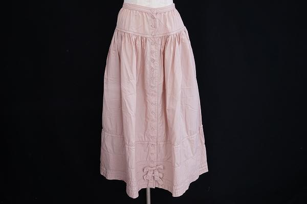 ピンクハウス フレアリボンスカート