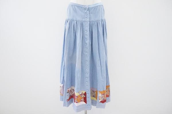 ピンクハウス デニムロングスカート