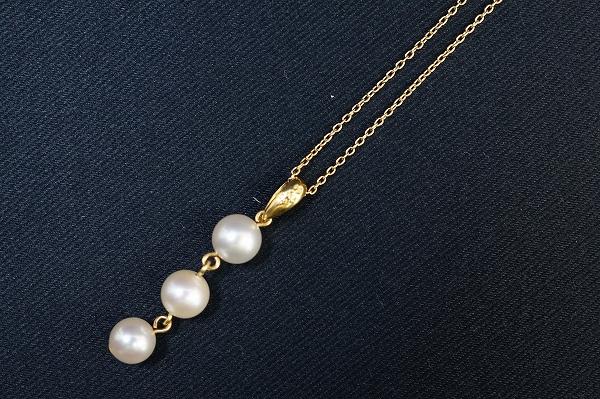 田崎真珠 パールK18ダイヤモンドネックレス