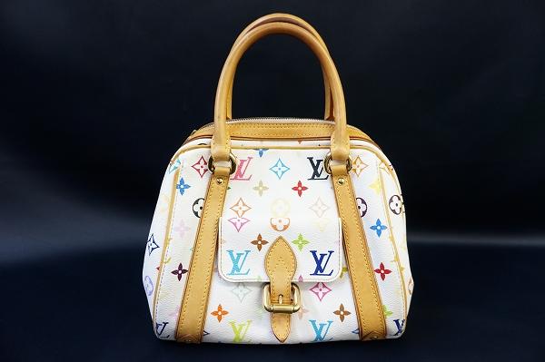 ルイヴィトン プリシラマルチカラーモノグラムレザーハンドバッグ