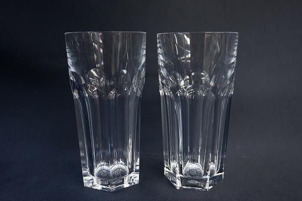 バカラクリスタルガラスアルクールタンブラー2客ペア