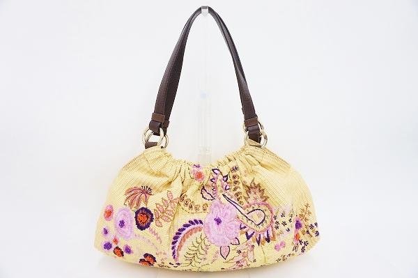 エトロ 花刺繍ハンドバッグ