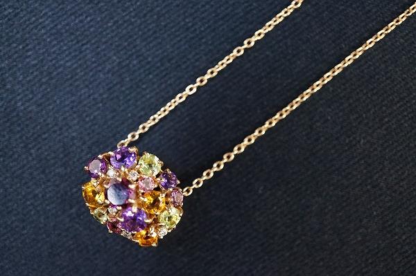 ポンテヴェキオ ピンクゴールドダイヤモンドネックレス