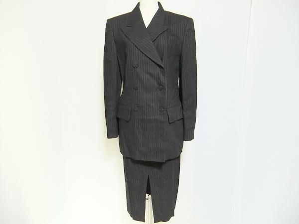チェントチェントアイスバーグ ベルト付きストライプスカートスーツ