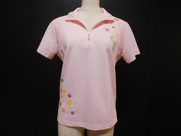 マンシングウェア 半袖ジップポロシャツ