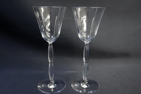 バカラ オンドクリスタルガラスペアワイングラス