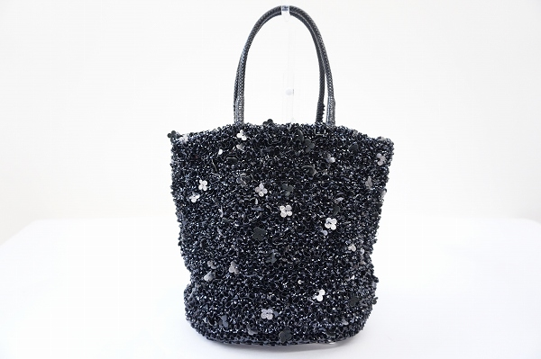 アンテプリマ バケツ型花モチーフワイヤートートバッグ