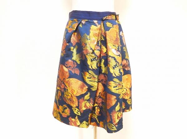 ランバンオンブルー 花柄スカート