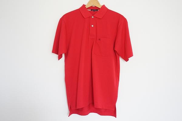 バーバリー コットン半袖ポロシャツ
