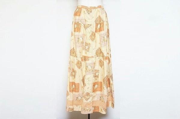 ケティ 花柄ロングスカート