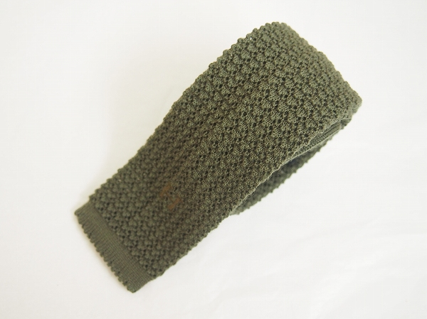 エルメス ニットH刺繍ネクタイ