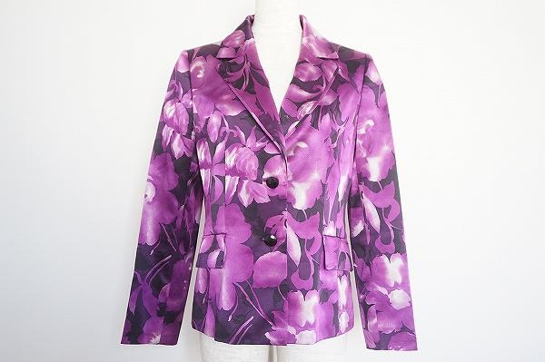 ハナエモリ シルク花柄ジャケット