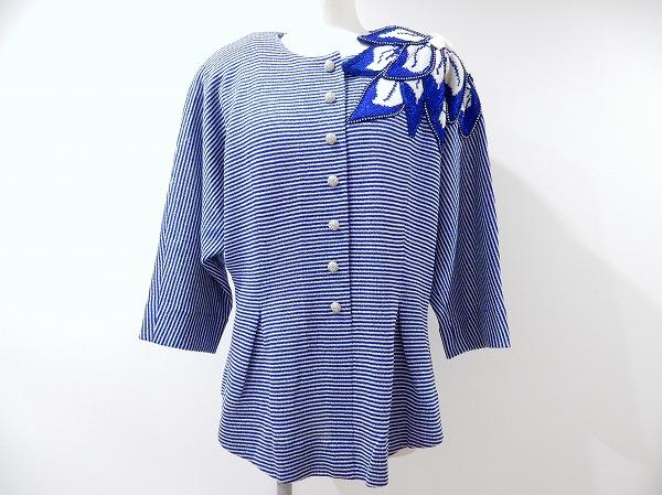 サイトウトヨコ ニット花モチーフセーター