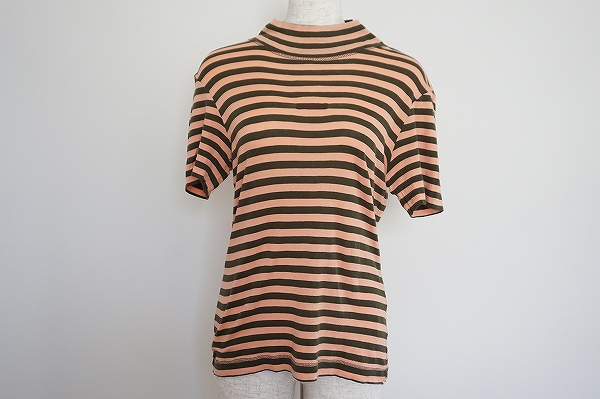 マドモアゼルノンノン ボーダー半袖Tシャツ