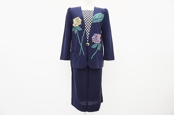 サイトウトヨコ ニット花柄セットアップ
