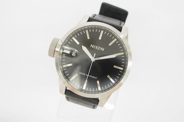 ニクソン クロニクルレザーベルトクォーツ腕時計