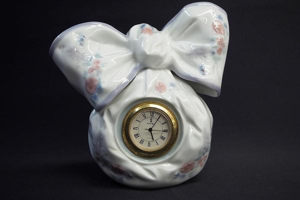 リヤドロ 陶器リボン時計No.5970フィギュリン