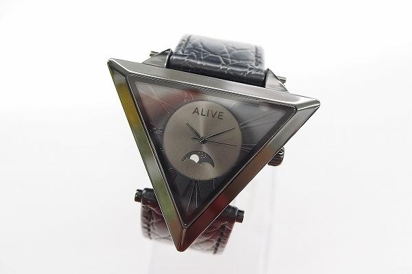 アライブ ムーンフェイズレザーベルト腕時計