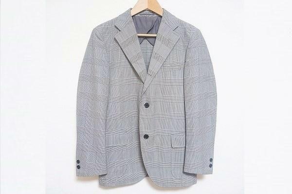 ジェイプレス シングルグレンチェックジャケット