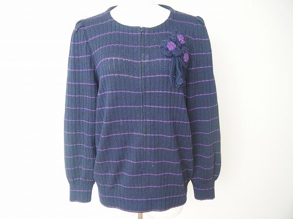 サイトウトヨコ 花モチーフニットジャケット