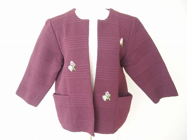 サイトウトヨコ ニット刺繍ジャケット
