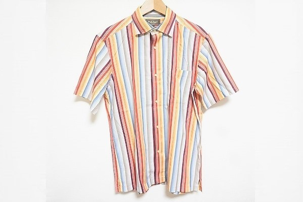 ポールスチュアート ストライプ半袖シャツ