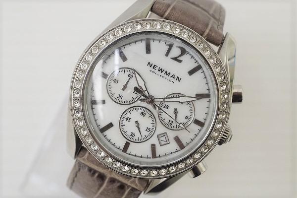 ニューマン クロノグラフラインストーン腕時計