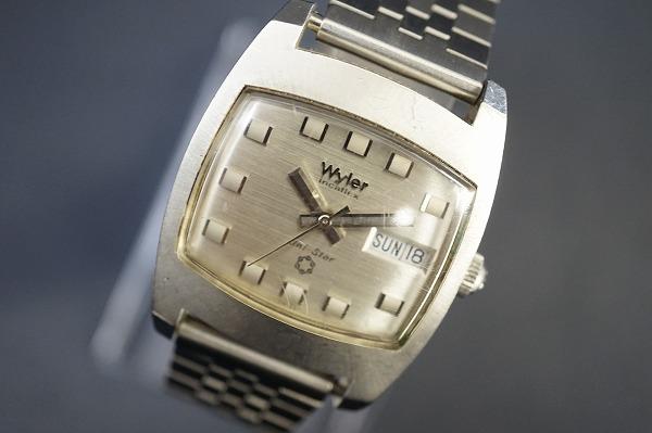 ワイラー Uni-Starステンレススチール手巻き腕時計