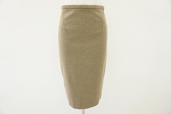 エルメス カシミヤ混スカート