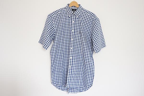 ダンヒル チェックボタンダウン半袖シャツ