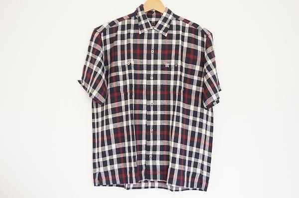ダックス リネンチェック半袖シャツ