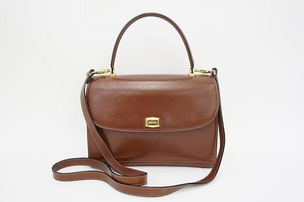 バリー ショルダーストラップ付きハンドバッグ