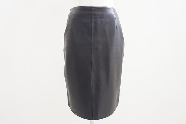 ロエベ ラムレザータイトスカート