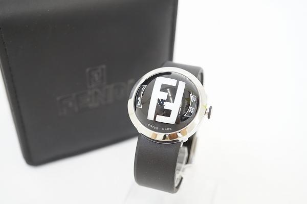 フェンディ 8010Gドームガラスクオーツ腕時計