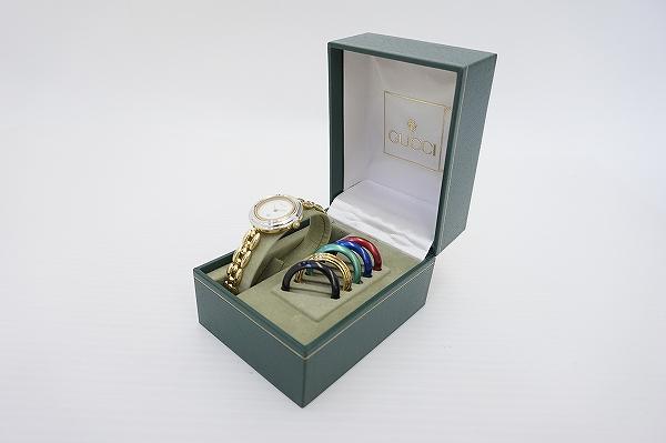 グッチ チェンジベゼル6色クオーツ腕時計