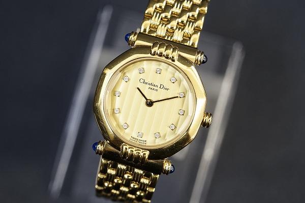 クリスチャンディオール オクタゴン64151クオーツ腕時計