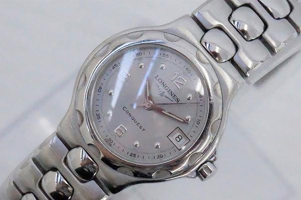 ロンジン コンクエストクオーツ 腕時計